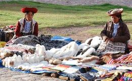 Donna quechua Immagini Stock Libere da Diritti