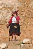 Donna quechua Immagini Stock