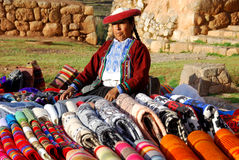 Donna quechua Fotografie Stock