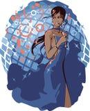 Donna in randello Illustrazione di Stock