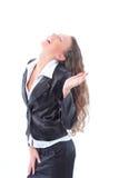Donna Relaxed di affari isolata fotografia stock libera da diritti