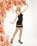 Donna in retro biancheria. Immagine Stock