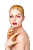 donna retrospettiva di rassegna s del ritratto di secolo di 20 bellezze xx Bella ragazza di modello con pelle pulita fresca perfe Immagini Stock