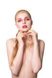 donna retrospettiva di rassegna s del ritratto di secolo di 20 bellezze xx Bella ragazza di modello con pelle pulita fresca perfe Immagine Stock