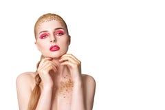 donna retrospettiva di rassegna s del ritratto di secolo di 20 bellezze xx Bella ragazza di modello con pelle pulita fresca perfe Fotografie Stock