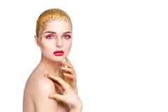 donna retrospettiva di rassegna s del ritratto di secolo di 20 bellezze xx Bella ragazza di modello con pelle pulita fresca perfe Immagini Stock Libere da Diritti