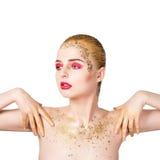 donna retrospettiva di rassegna s del ritratto di secolo di 20 bellezze xx Bella ragazza di modello con pelle pulita fresca perfe Fotografia Stock Libera da Diritti