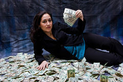 Donna ricca Fotografia Stock Libera da Diritti