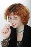 Donna risoluta di affari Fotografia Stock