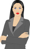 Donna in rivestimento Fotografia Stock Libera da Diritti