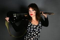Donna rockstar Fotografia Stock Libera da Diritti