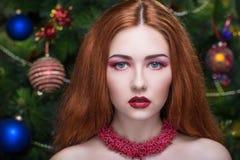 Donna rossa dei capelli Fotografia Stock Libera da Diritti