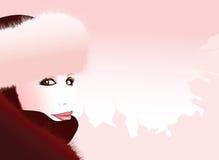 Donna russa con un chapka illustrazione vettoriale