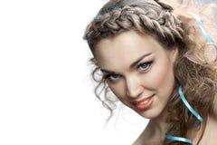 Donna russa sorridente Immagini Stock Libere da Diritti