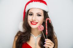 Donna Santa felice fotografia stock