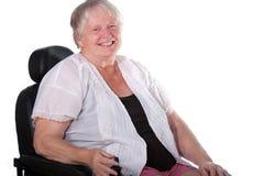 Donna in sedia a rotelle Immagini Stock Libere da Diritti