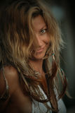 Donna selvaggia Fotografia Stock