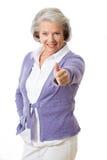 Donna senior Fotografia Stock Libera da Diritti