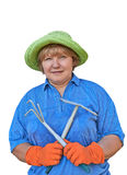 Donna senior attiva fotografia stock