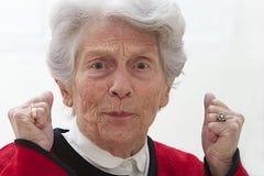 Donna senior molto infelice fotografia stock libera da diritti