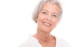 Donna senior sorridente Immagini Stock