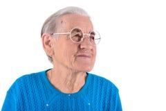 Donna senior in vetri Fotografia Stock Libera da Diritti
