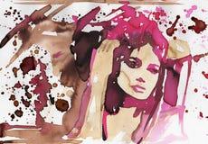 Donna sensuale. illustrazione di stock
