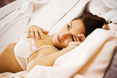 Donna sensuale in base Fotografia Stock