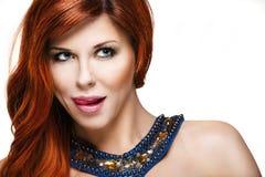 Donna sensuale con capelli rossi Immagini Stock
