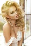 Donna sensuale con l'ente perfetto Immagine Stock Libera da Diritti