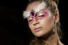 Donna sensuale con trucco di fascino Immagini Stock Libere da Diritti