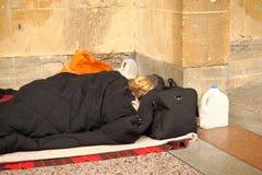 Donna senza casa Fotografie Stock Libere da Diritti