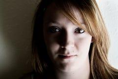 Donna seria Fotografia Stock