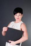 Donna seria di affari con l'archivio Immagini Stock Libere da Diritti