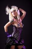Donna sexy in attrezzatura burlesque Fotografie Stock