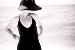 Donna sexy in in bianco e nero Immagini Stock
