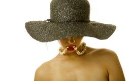 Donna sexy in cappello fotografie stock libere da diritti