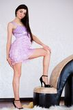 Donna sexy con gli alti talloni Fotografie Stock