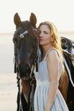 Donna sexy con il cavallo Immagine Stock Libera da Diritti