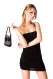 Donna sexy con la borsa Fotografia Stock Libera da Diritti