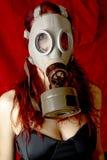 Donna sexy con la maschera antigas Immagini Stock Libere da Diritti