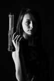 Donna sexy con la pistola Immagine Stock