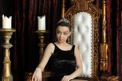 Donna in corona Fotografia Stock