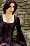 Donna sexy del vampiro Fotografia Stock Libera da Diritti