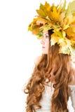 Donna sexy di autunno fotografie stock