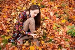 Donna sexy di autunno fotografia stock