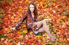 Donna sexy di autunno immagini stock libere da diritti