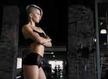 Donna sexy di forma fisica di modo Fotografie Stock