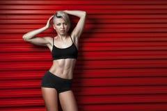 Donna sexy di forma fisica di modo Fotografie Stock Libere da Diritti