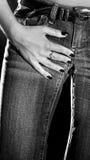 Donna sexy in jeans Fotografia Stock Libera da Diritti